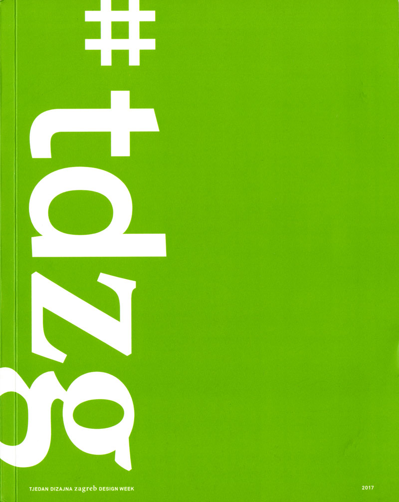 Zagreb Design Week 2017 Exhibition Catalogue Cover
