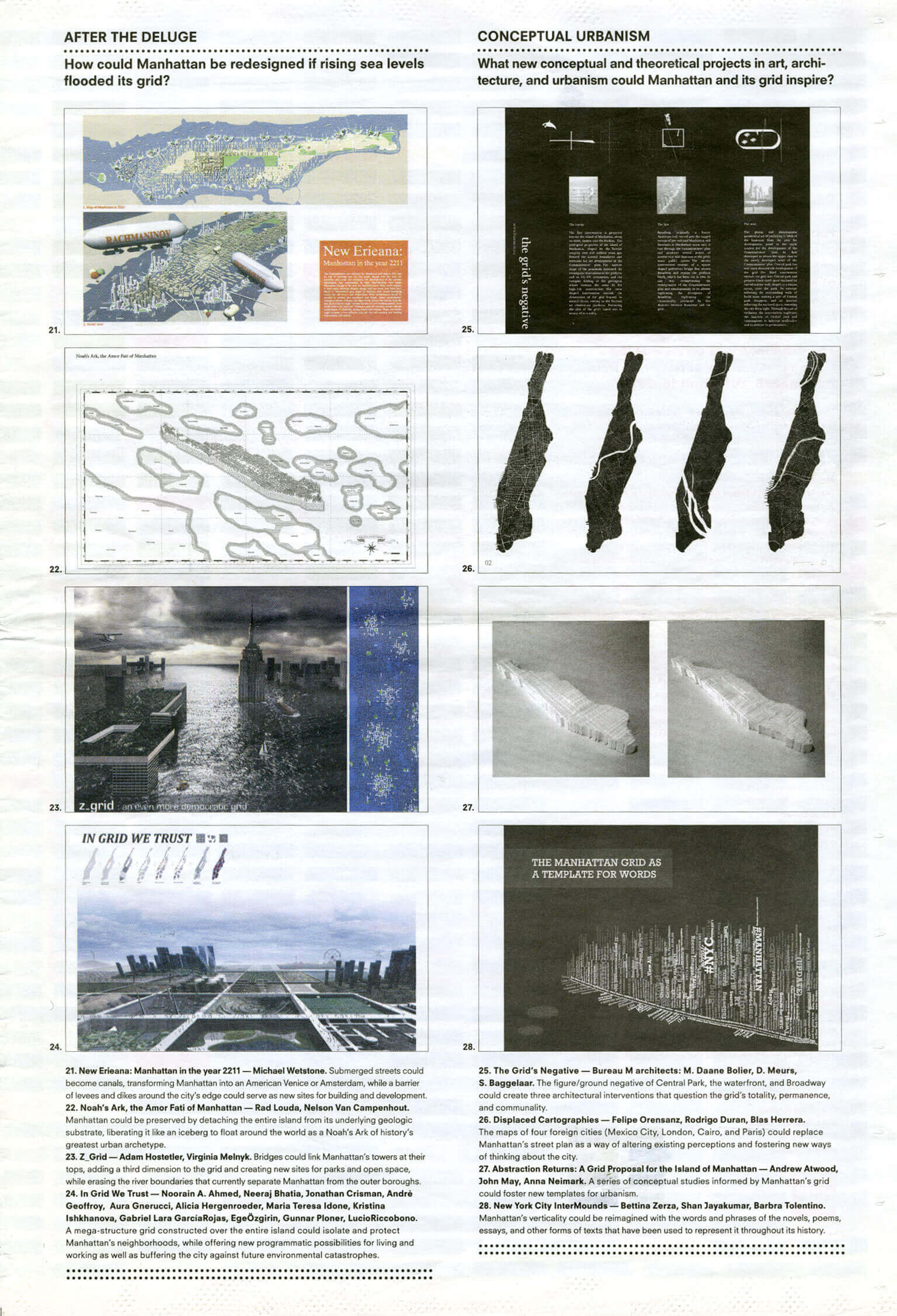 The Unfinished Grid: Design Speculations For Manhattan Exhibition