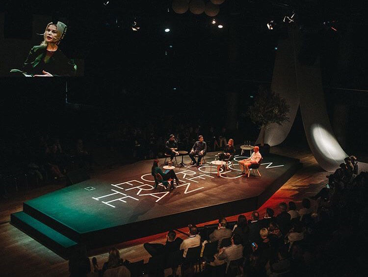 "Bettina Zerza speaking in the ""Gardens in the Machine"" panel discussion at reSITE 2019"